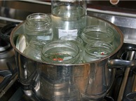 leerglaserimwasserbaderhitzen