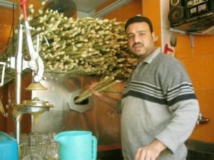 Zuckerrohrsaftpresse in Kairo