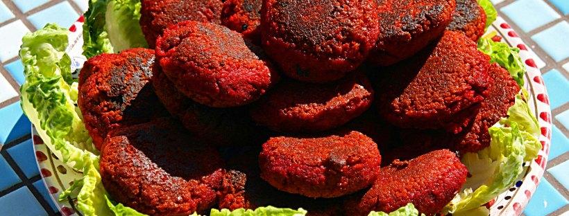 Rote Bete Kichererbsen Burger Vegan Low Carb 1001foodde